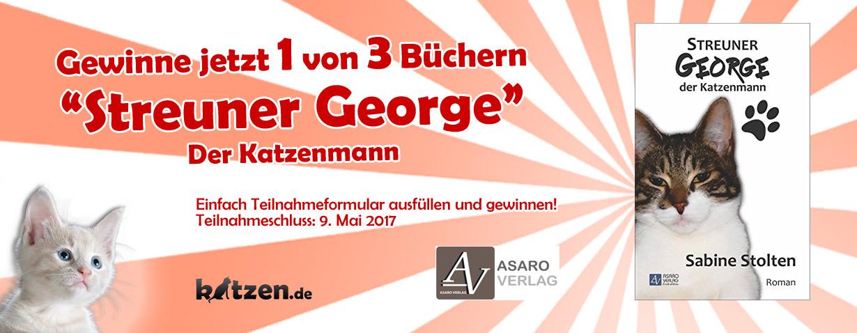 Gewinnspiel: Streuner George - der Katzenmann