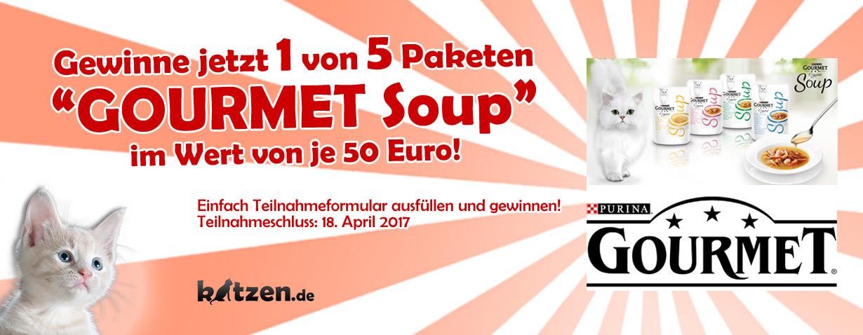 Gewinnspiel: GOURMET Soup – köstliche Brühen für Ihre Samtpfote zu gewinnen