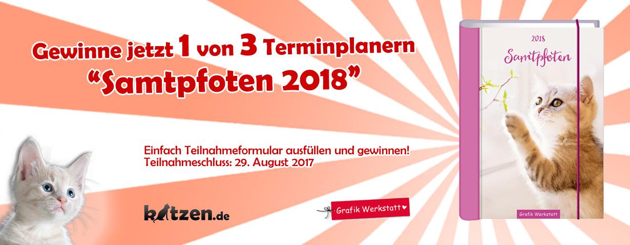 "Gewinnspiel: Terminplaner ""Samtpfoten 2018"""