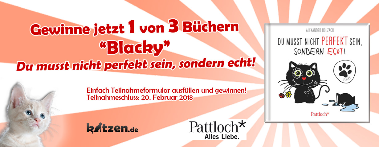 Gewinnspiel: Blacky - Du musst nicht perfekt sein, sondern echt!