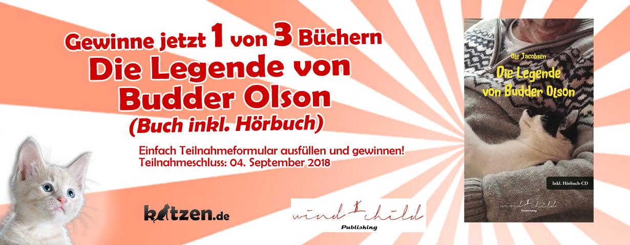 Gewinnspiel: Die Legende von Budder Olson (Buch inkl. Hörbuch)