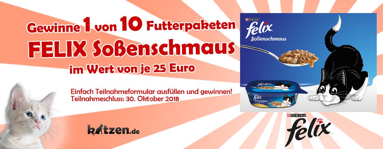 """Gewinnspiel: 10 Futterpakete """"FELIX Soßenschmaus"""""""