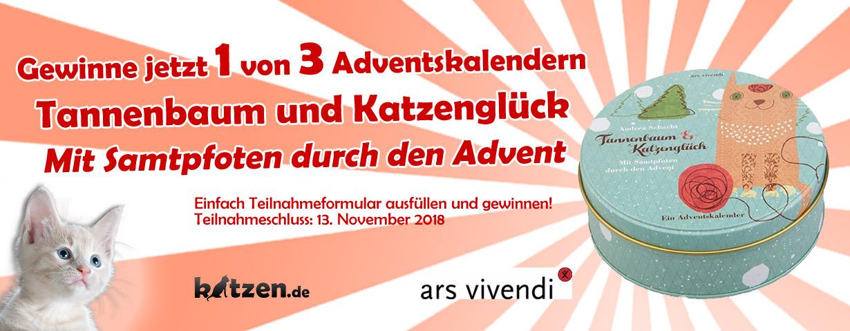 """Gewinnspiel: Adventskalender """"Tannenbaum und Katzenglück - Mit Samtpfoten durch den Advent"""""""