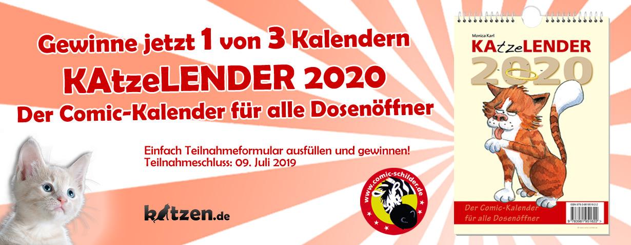 """Gewinnspiel: Comic-Kalender """"KAtzeLENDER 2020"""""""