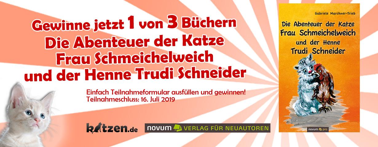 Gewinnspiel: Die Abenteuer der Katze Frau Schmeichelweich und der Henne Trudi Schneider