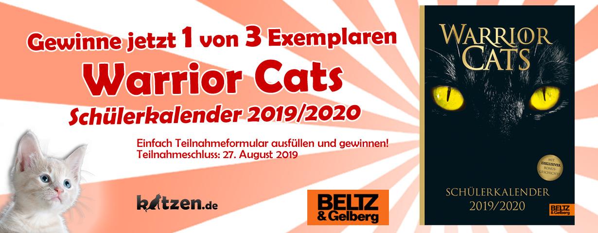 Gewinnspiel: Warrior Cats – Schülerkalender 2019/2020