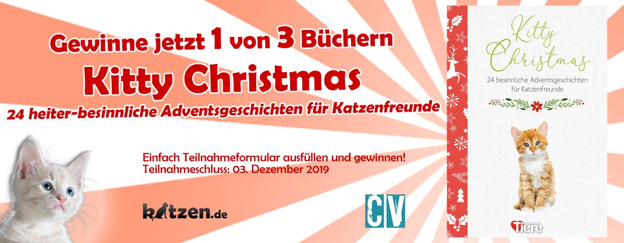 Gewinnspiel: Kitty Christmas - 24 heiter-besinnliche Adventsgeschichten für Katzenfreunde