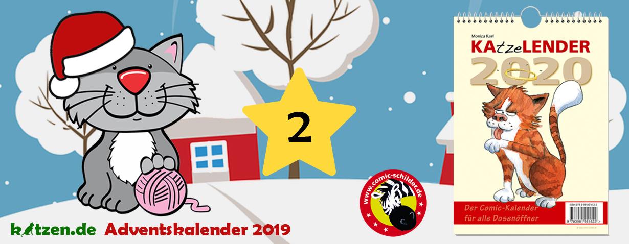 Gewinnspiel: KAtzeLENDER 2020 – Der Comic-Kalender für alle Dosenöffner