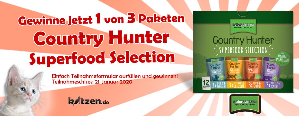 Gewinnspiel: Country Hunter Multipack - Superfood-Pakete von Natures Menu