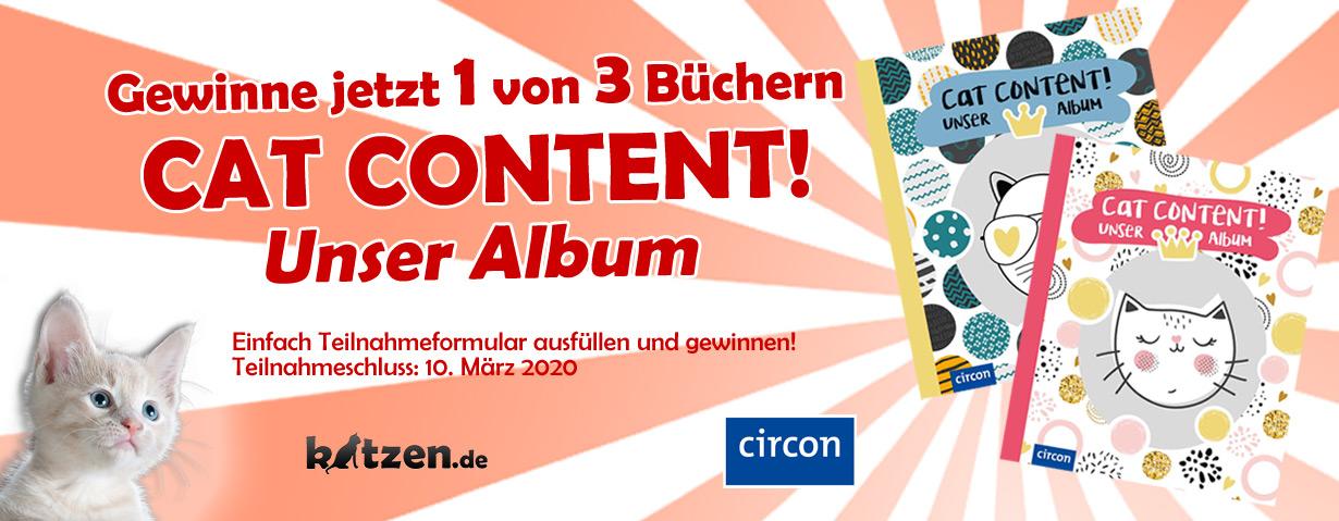 Gewinnspiel: Cat Content! Unser Album - Das Erinnerungsalbum für deine Katze und dich auf einen Blick