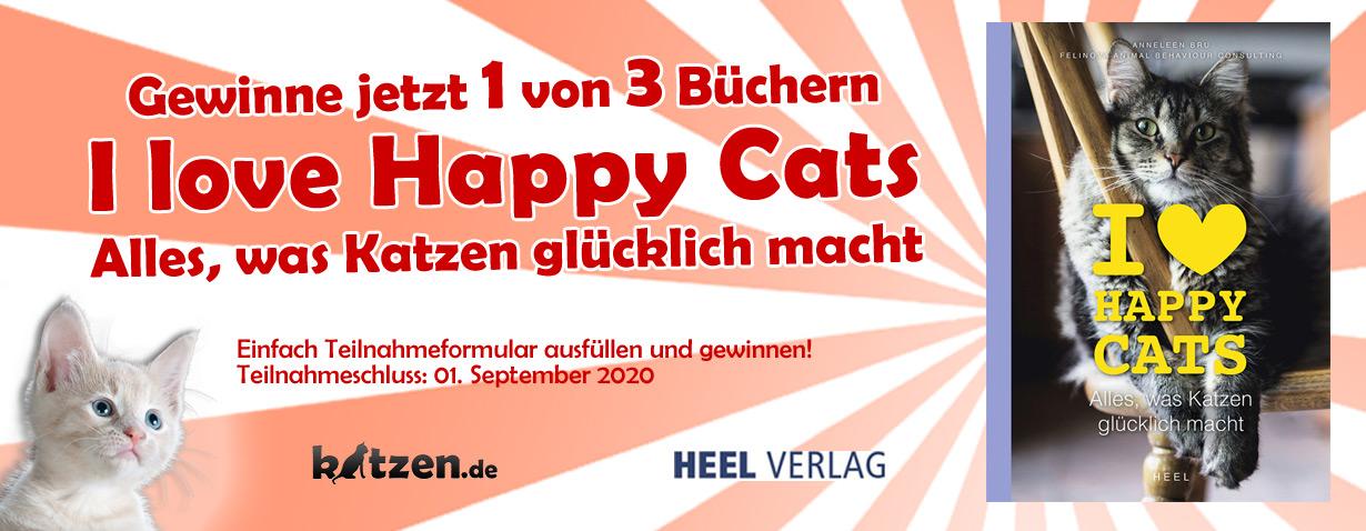 Gewinnspiel: I love Happy Cats - Alles, was Katzen glücklich macht