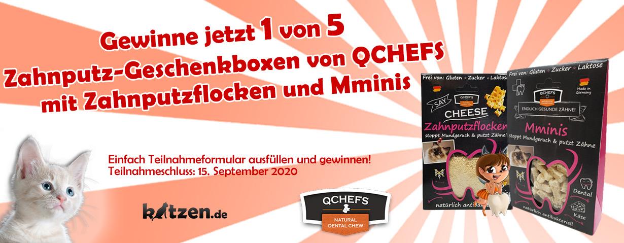 Gewinnspiel: Fünf Zahnputz-Geschenkboxen von QCHEFS mit Zahnputzflocken und Mminis
