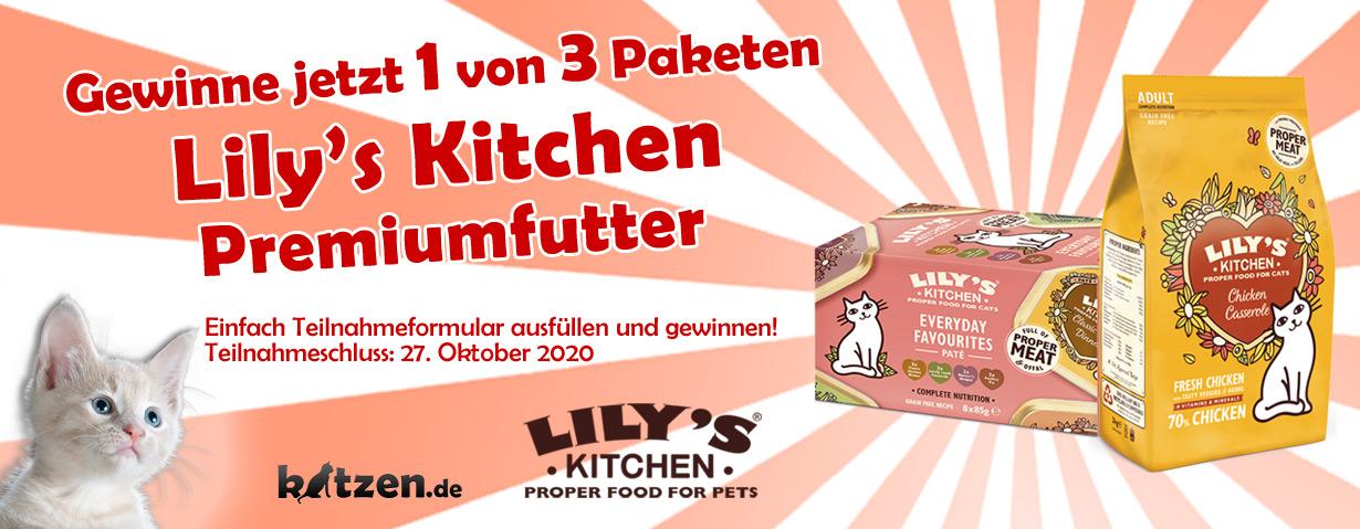 Gewinnspiel: Drei leckere Premiumfutter-Pakete von Lily's Kitchen!