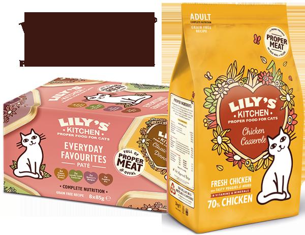"""""""Chicken Casserole"""" Trockenfutter und """"Everyday Favourites"""" Multipack von Lily's Kitchen"""