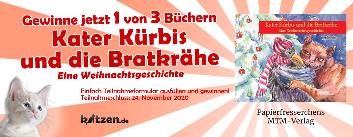 Gewinnspiel: Kater Kürbis und die Bratkrähe – Eine Weihnachtsgeschichte