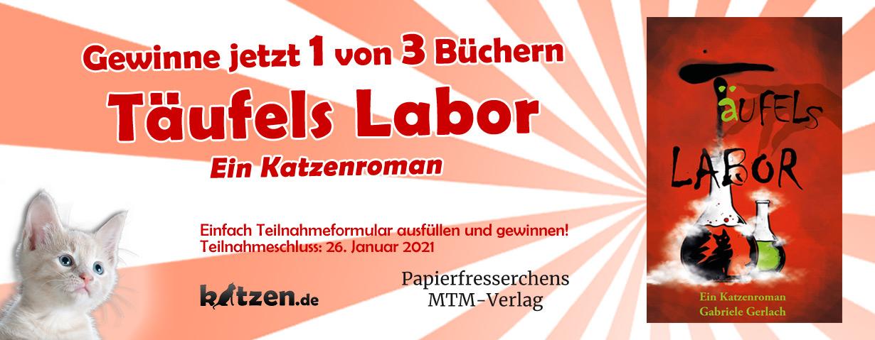 Gewinnspiel: Täufels Labor - Ein Katzenroman
