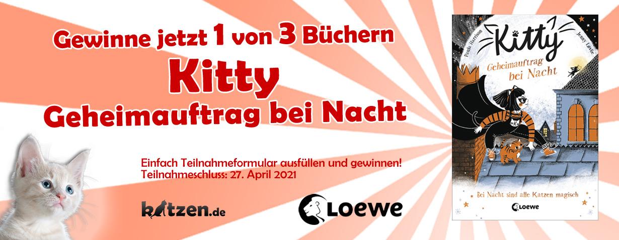 Gewinnspiel: Kitty - Geheimauftrag bei Nacht (+ Bastelbogen für eine Kitty-Maske)